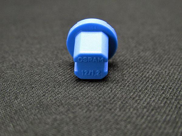 ベンツ OSRAM社 12V 1.2W ブルーソケットL メーターバルブ 2個セット(N000000000953) BENZ W168/W201/W202/W210/W140/W463/R129等_製品記載の刻印になります