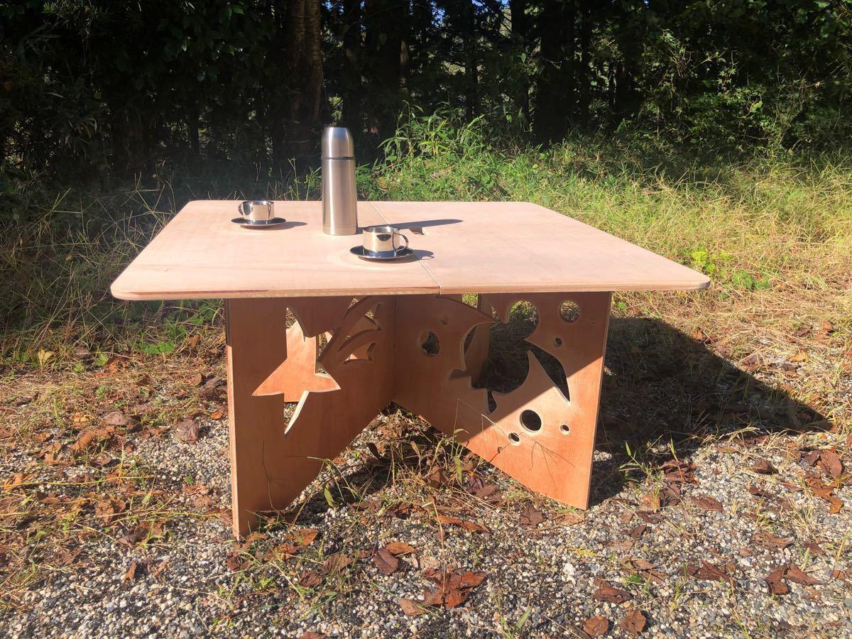 アウトドアテーブル 室内テーブル 作業台 ぺけ台