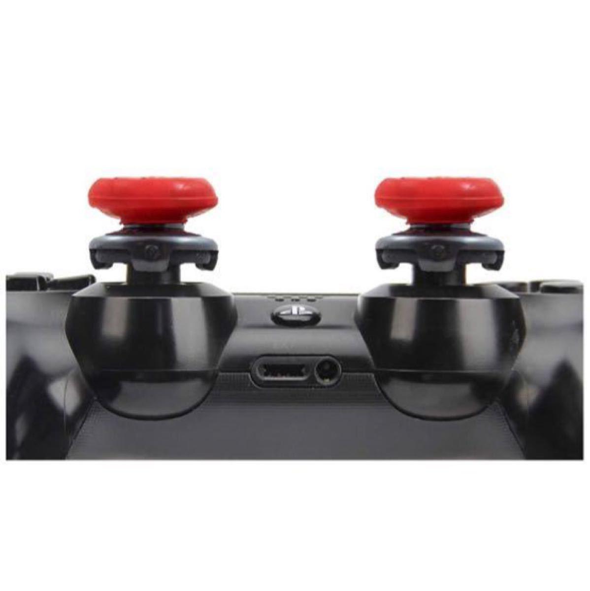 FPSアシストキャップ コントローラー用 アシストキャップ レッド 4本セット