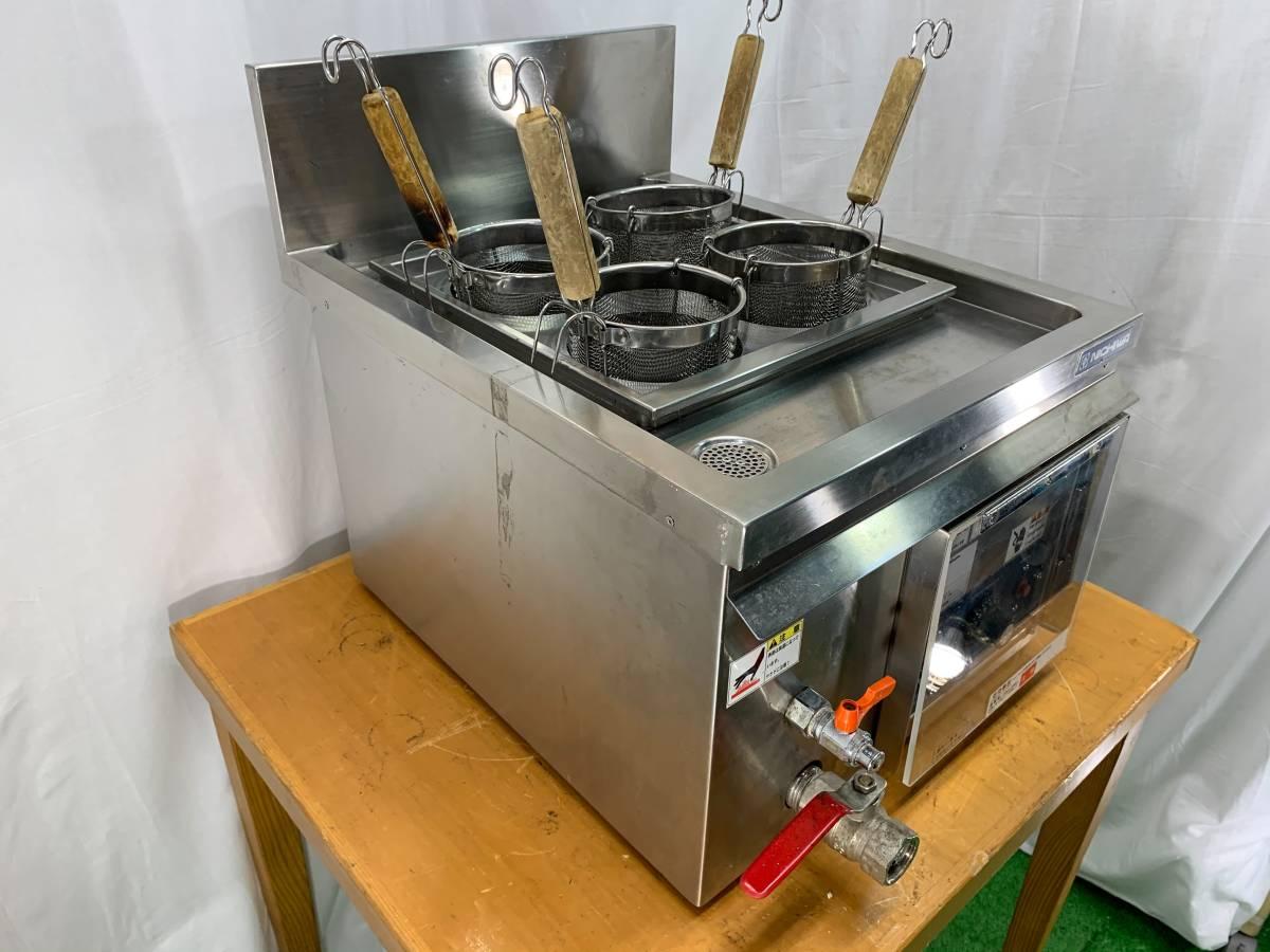 ニチワ/NICHIWA 業務用  卓上型 電気ゆで麺機 4テボ用 三相200V 店舗 厨房 ENB-450H_画像4