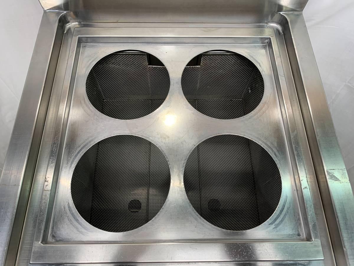 ニチワ/NICHIWA 業務用  卓上型 電気ゆで麺機 4テボ用 三相200V 店舗 厨房 ENB-450H_画像7