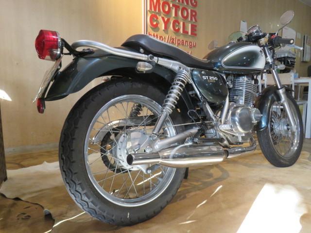 □SUZUKI ST250 NJ4CA スズキ 250cc 11007km グリーン 自賠R3.6 実動! バイク 札幌発_画像6