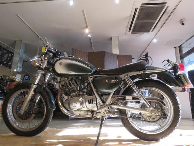 □SUZUKI ST250 NJ4CA スズキ 250cc 11007km グリーン 自賠R3.6 実動! バイク 札幌発_画像2