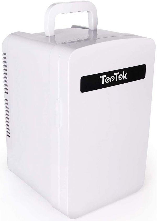 TepTek 冷蔵庫 小型 10L 車載 -2°C~60°C 冷温庫 ミニ冷蔵庫 保冷 小型冷蔵庫 保温・保冷両用 ミニ冷温庫 家庭 保冷温庫 AC DC 省エネ 10L_画像1