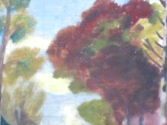 【油彩画】 ★ 風景画 ★ 作家サインなし 額装済み 額 (縦:47 cm × 横:56 cm × 厚み:7 cm)_画像3