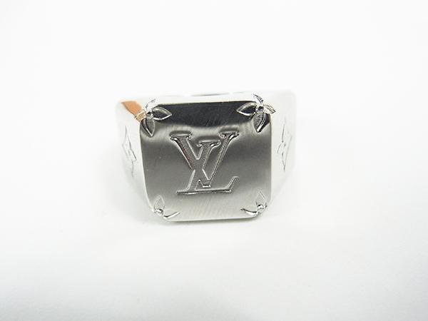 ルイヴィトン LOUIS VUITTON リング 指輪 シグネットリング M62488 DI0199 サイズL 約21号 中古美品 ♪_画像2