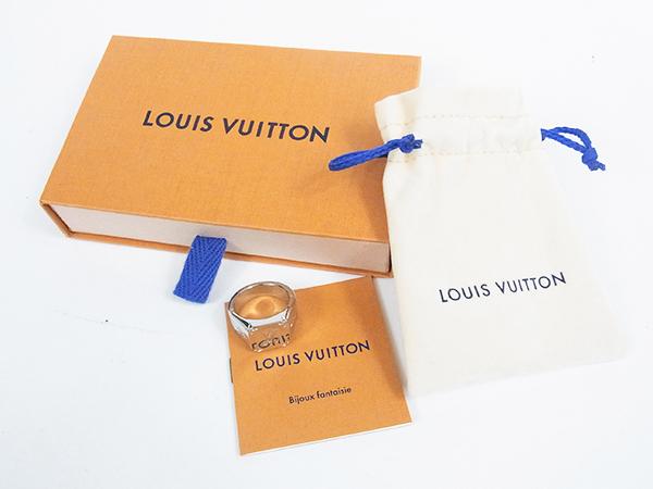 ルイヴィトン LOUIS VUITTON リング 指輪 シグネットリング M62488 DI0199 サイズL 約21号 中古美品 ♪_画像7
