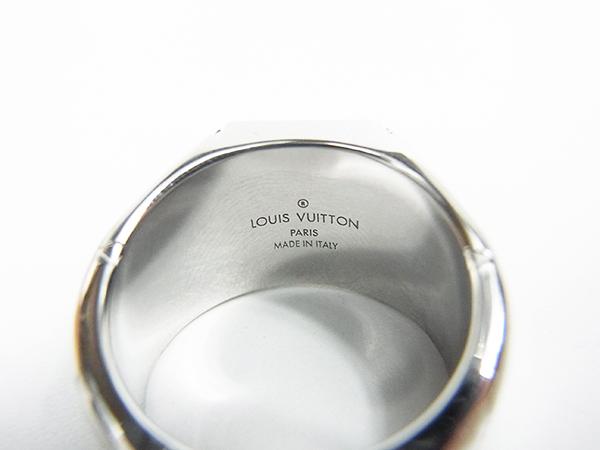 ルイヴィトン LOUIS VUITTON リング 指輪 シグネットリング M62488 DI0199 サイズL 約21号 中古美品 ♪_画像6