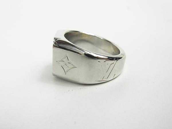 ルイヴィトン LOUIS VUITTON リング 指輪 シグネットリング M62488 DI0199 サイズL 約21号 中古美品 ♪_画像4