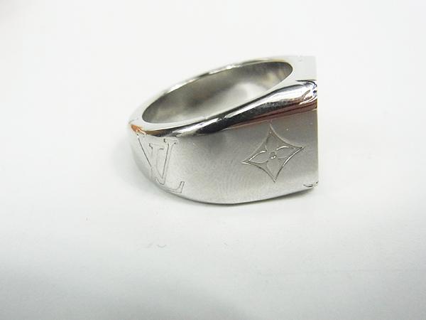 ルイヴィトン LOUIS VUITTON リング 指輪 シグネットリング M62488 DI0199 サイズL 約21号 中古美品 ♪_画像3