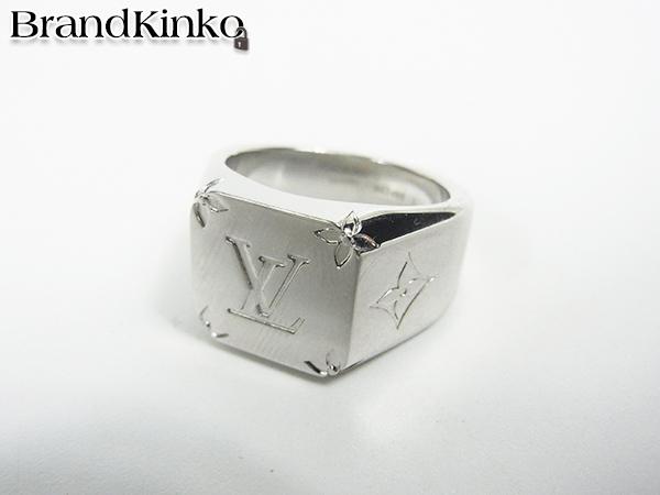 ルイヴィトン LOUIS VUITTON リング 指輪 シグネットリング M62488 DI0199 サイズL 約21号 中古美品 ♪_画像1