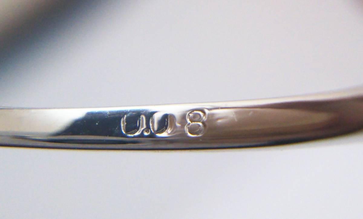 Pt900 ピンクダイヤ#7 0.08ct リング 店舗受取可_画像4