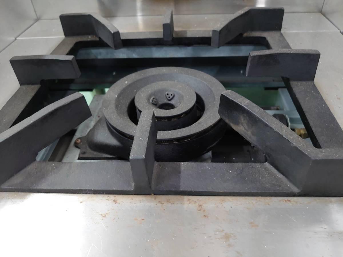 03-21871中古品 マルゼン スープレンジ MLSX-077C 都市ガス ローレンジ 750×735×450 ガスコンロ 業務用 厨房機器 1連 _画像8