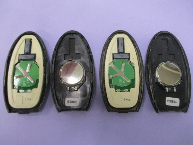 [レターパックライト発送] 日産 4ボタン 両側パワースライド スマートキー キーレス 2個 【 BPA0M-11/JCI-D2S H ▲94V-0】セレナ等_画像5