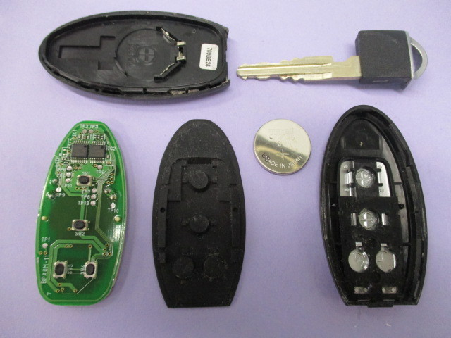 [レターパックライト発送] 日産 4ボタン 両側パワースライド スマートキー キーレス 2個 【 BPA0M-11/JCI-D2S H ▲94V-0】セレナ等_画像8