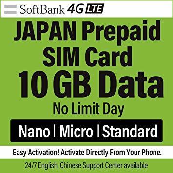 10GB Softbank 日本 プリペイドSIM 10GB 4GLTE対応 最大6ヶ月間有効_画像7