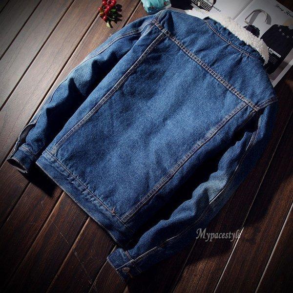 ジージャン Gジャン メンズデニムジャケット コートファッション アウター ジャンパー ブルゾン ポケット カジュアル 裏ボア 欧米