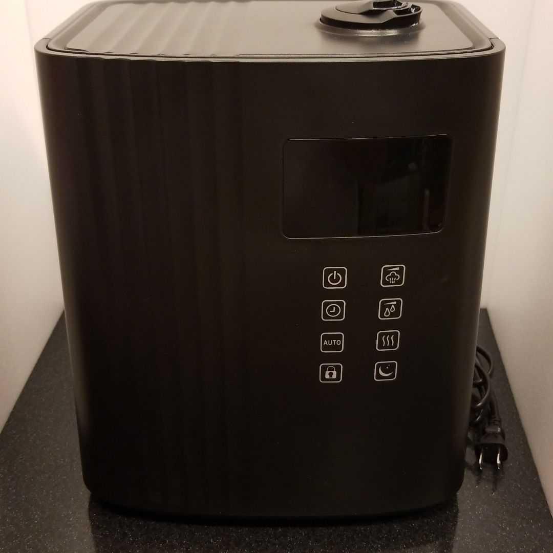 ハイブリッド加湿器 超音波 加熱 上部給水 ブラック_画像1