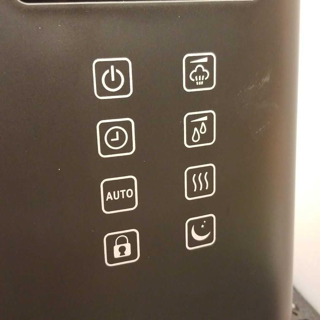 ハイブリッド加湿器 超音波 加熱 上部給水 ブラック_画像2