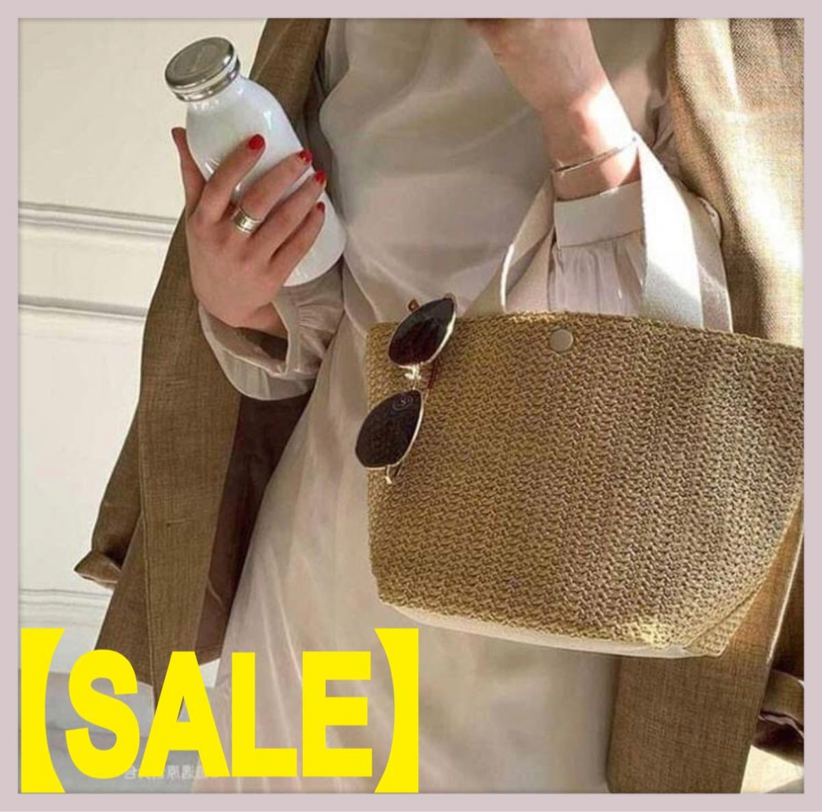 【SALE】かごバッグ トートバッグ エコバッグ マザーズバッグ ハンドバッグ