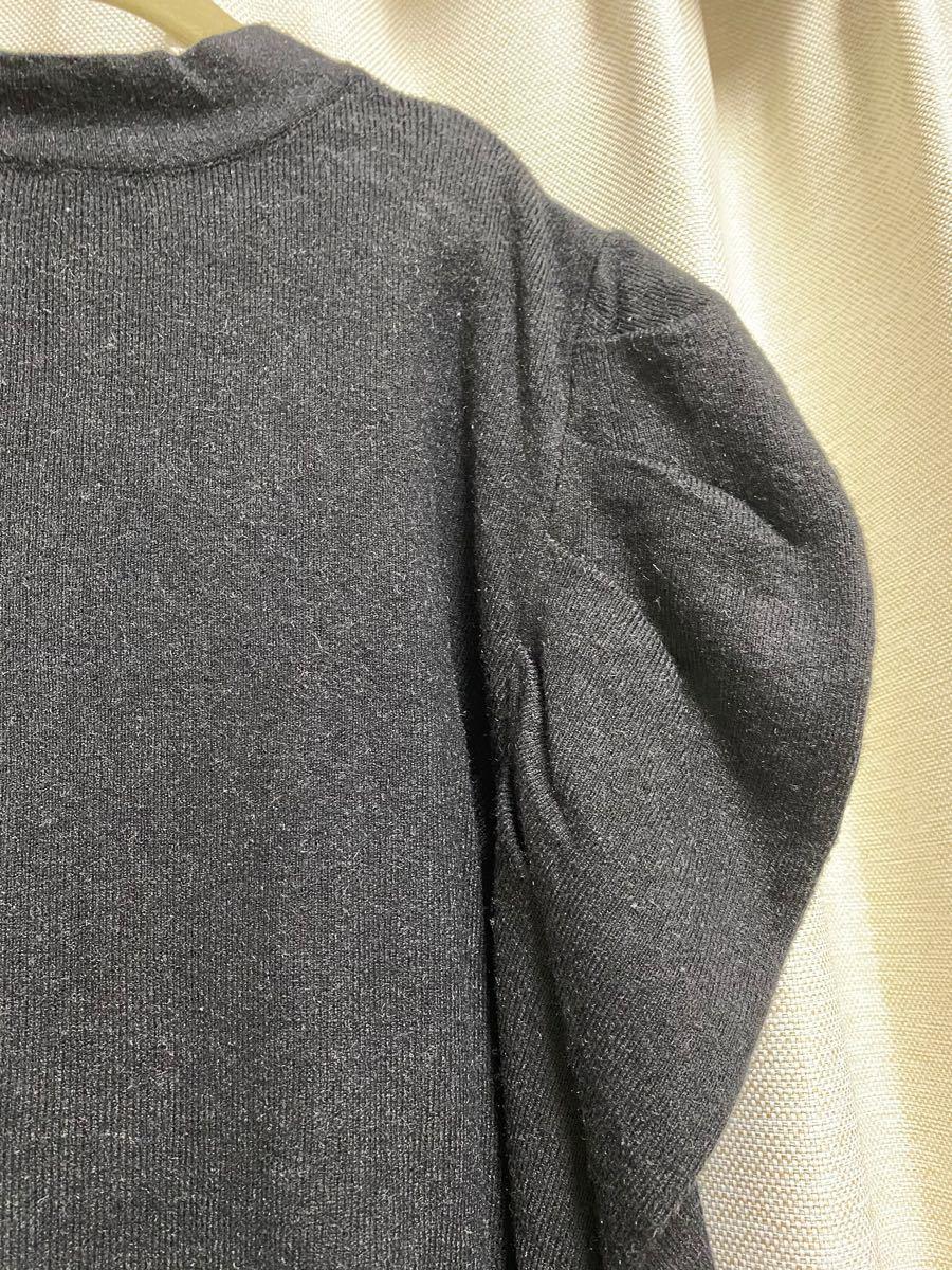 パフスリーブニットトップス/韓国ファッション