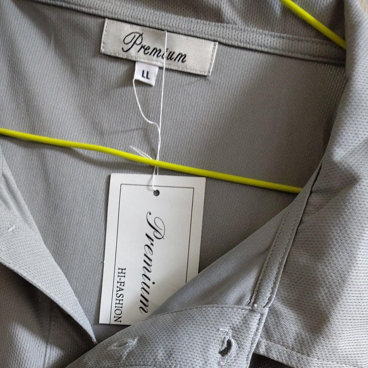 ポロシャツ 半袖シャツLLサイズグレー
