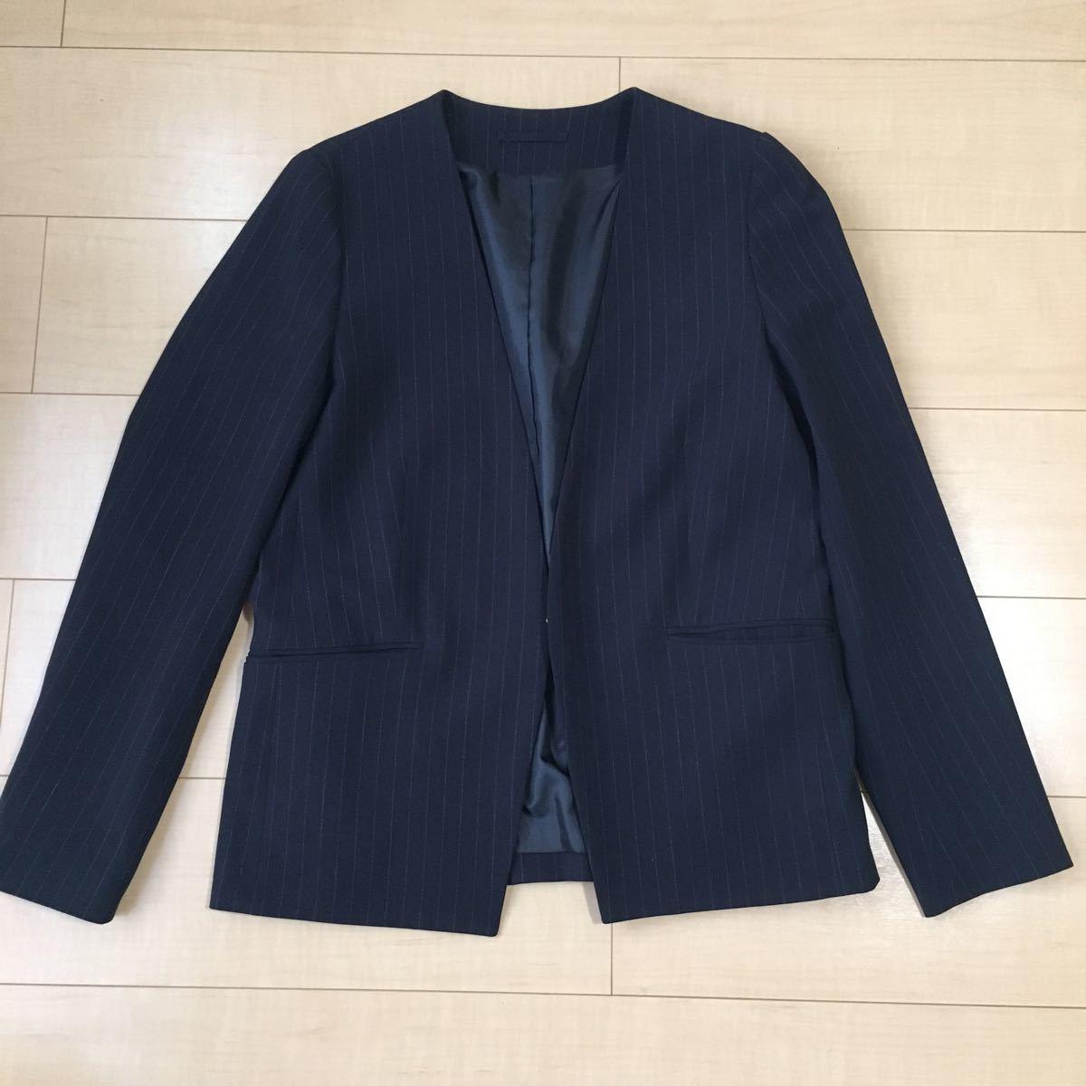 GU  ノーカラージャケット テーラードジャケット スーツ 上着 ジャケット