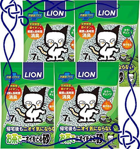 ライオン (LION) お茶でニオイをとる砂 猫砂 7L×4個 (ケース販売)_画像1
