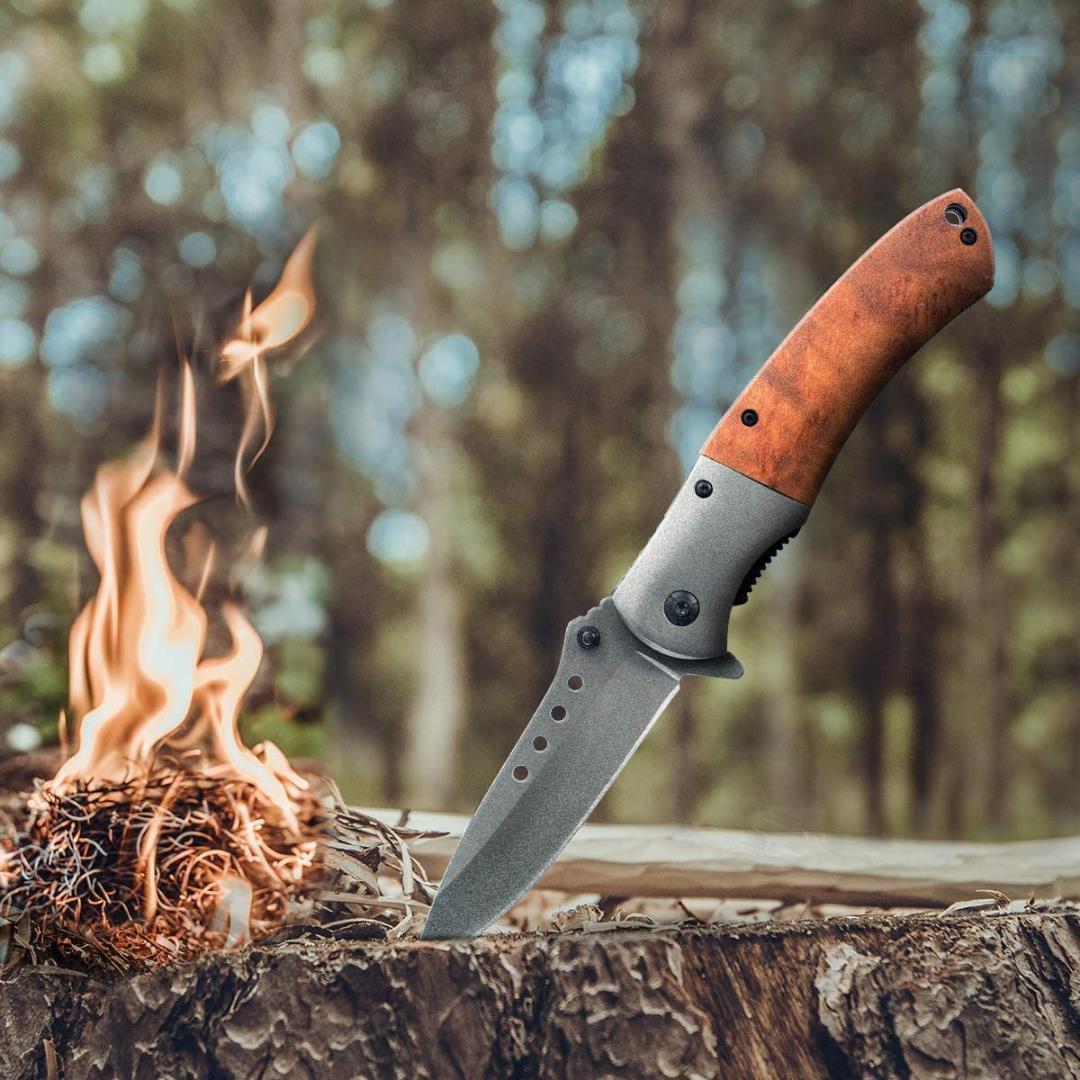 サバイバルナイフ アウトドア フォールディングナイフ