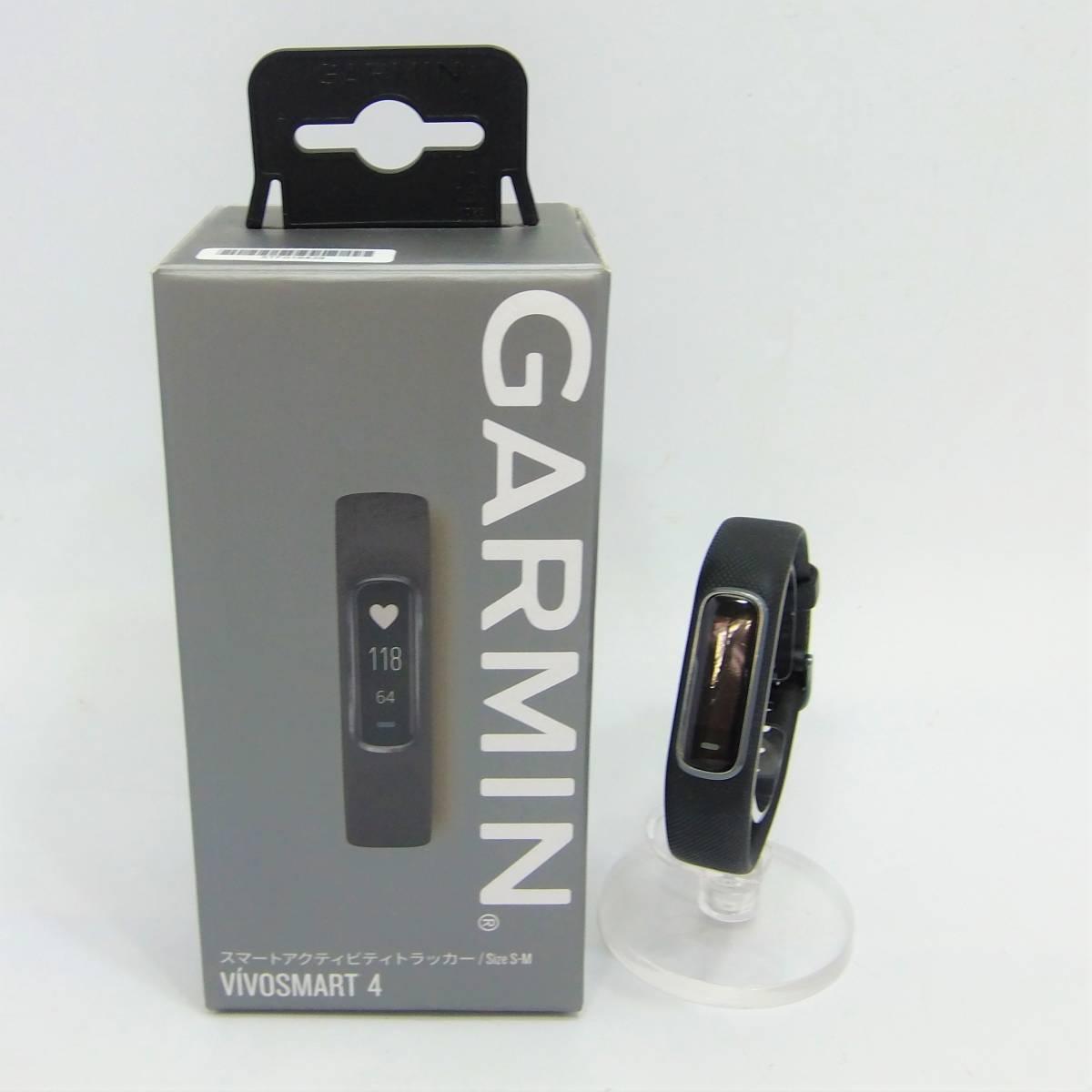 [通電確認・初期化済み] ガーミン GARMIN vivosmart 4 スマートウォッチ レギュラーサイズ S-M リセット済 [アプリ同期・初期動作確認済]_画像1