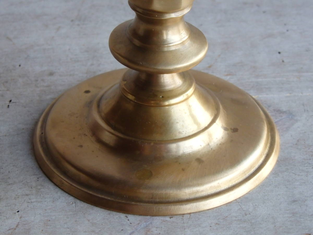 フランスアンティーク キャンドルスタンド ブロンズ 青銅 ゴールド 蚤の市 ビンテージ _画像4