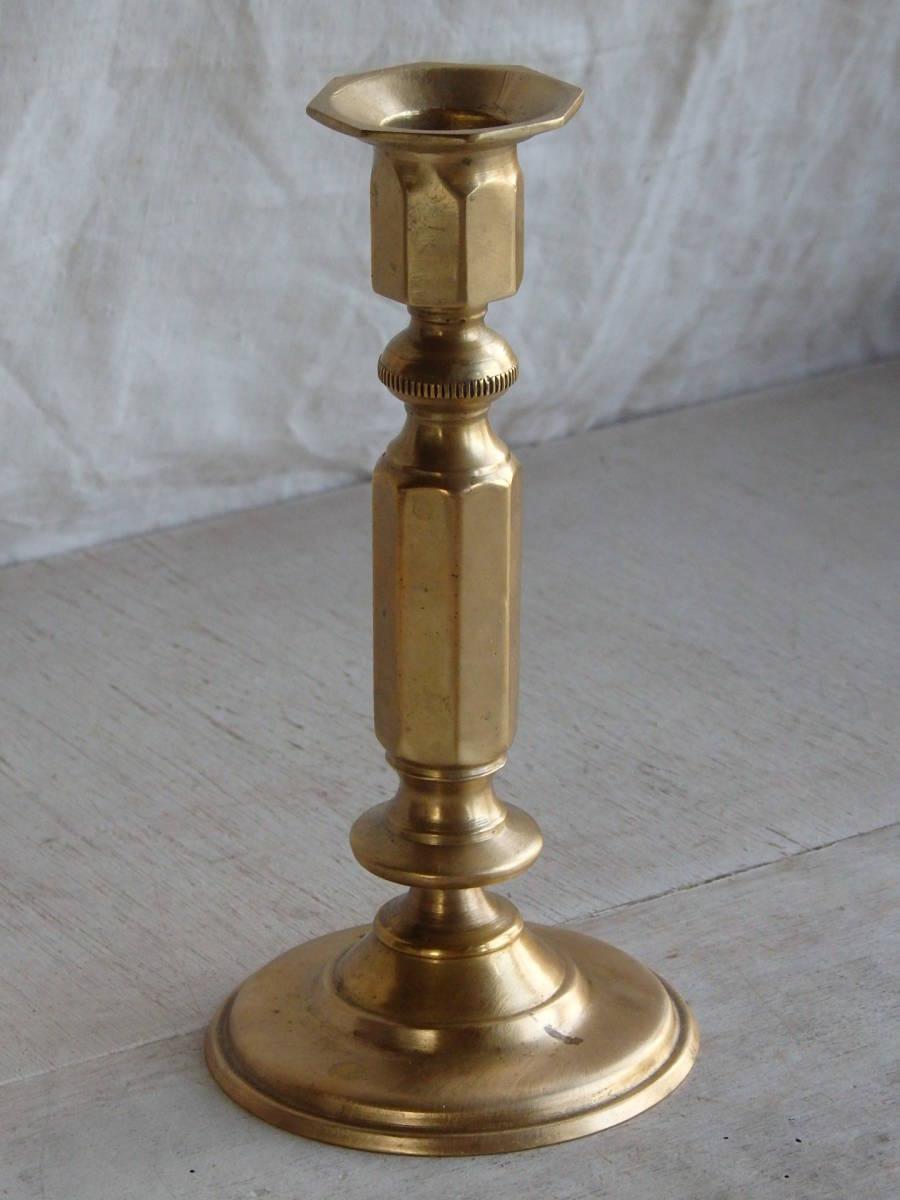 フランスアンティーク キャンドルスタンド ブロンズ 青銅 ゴールド 蚤の市 ビンテージ _画像3