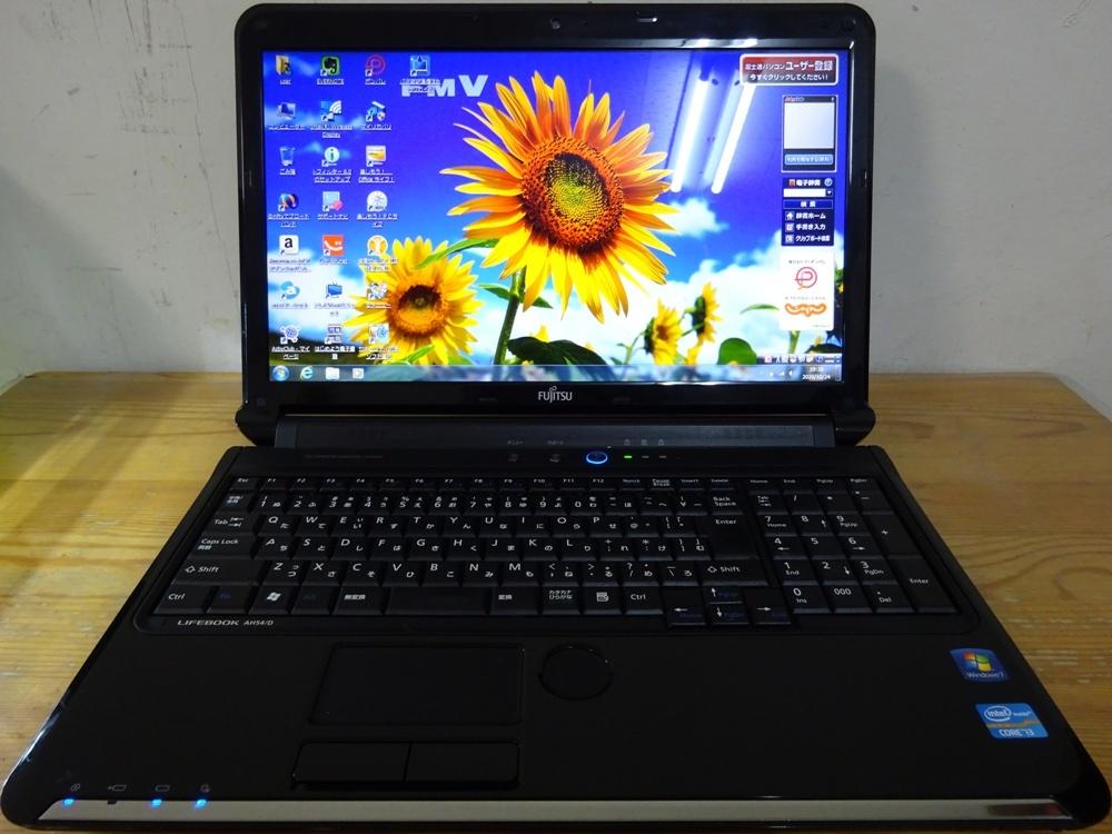 富士通 ノートパソコン LIFEBOOK AH54/D/Core i3 2310M 2.1GHz/4GB/500GB/優良品_画像1