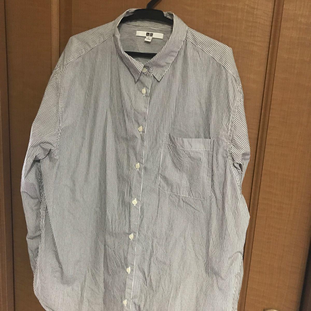 ストライプ長袖シャツ未使用