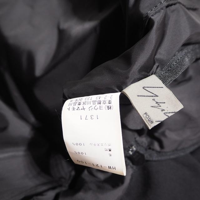 U6060P ▼Yohji Yamamoto ヨウジヤマモト▼ ダブル ウールバッグ ブラック / リュック バックパック 黒 rb_画像6