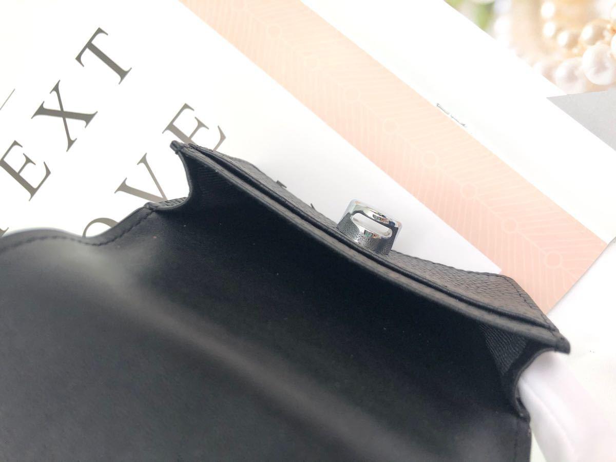 小銭入れ カードケース 名刺入れ レディース 本革 大容量 シンプル ブラック