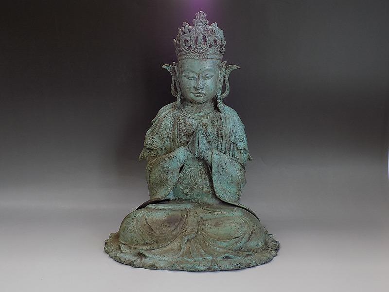 b303 寺院買受 時代物 明代 青銅 古銅 中国仏像 西蔵仏教 チベット 仏像 坐像 金剛薩 金剛仏 金剛界 曼荼羅 唐物 古玩 古美術品 仏教美術