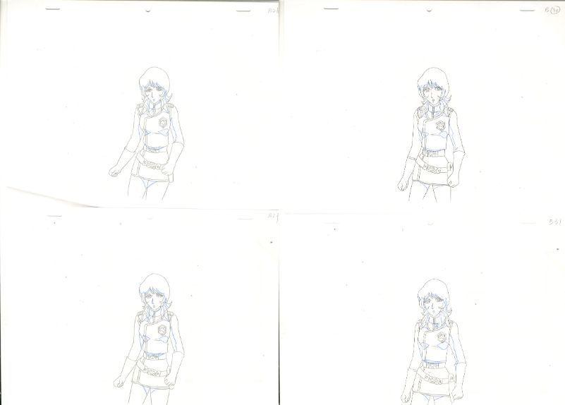 松本零士 銀河鉄道物語 動画セット 4 <検索ワード> セル画 原画 イラスト 設定資料 アンティーク_画像8
