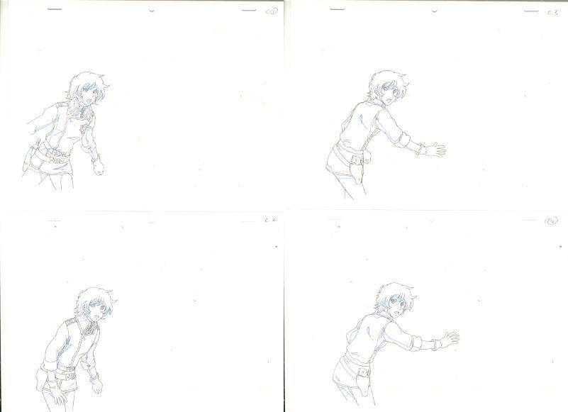 松本零士 銀河鉄道物語 動画セット 4 <検索ワード> セル画 原画 イラスト 設定資料 アンティーク_画像1