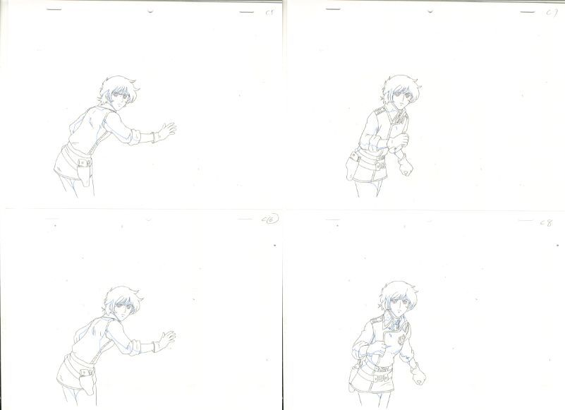 松本零士 銀河鉄道物語 動画セット 4 <検索ワード> セル画 原画 イラスト 設定資料 アンティーク_画像2
