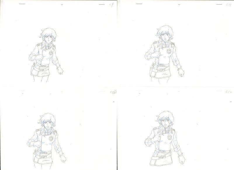 松本零士 銀河鉄道物語 動画セット 4 <検索ワード> セル画 原画 イラスト 設定資料 アンティーク_画像3