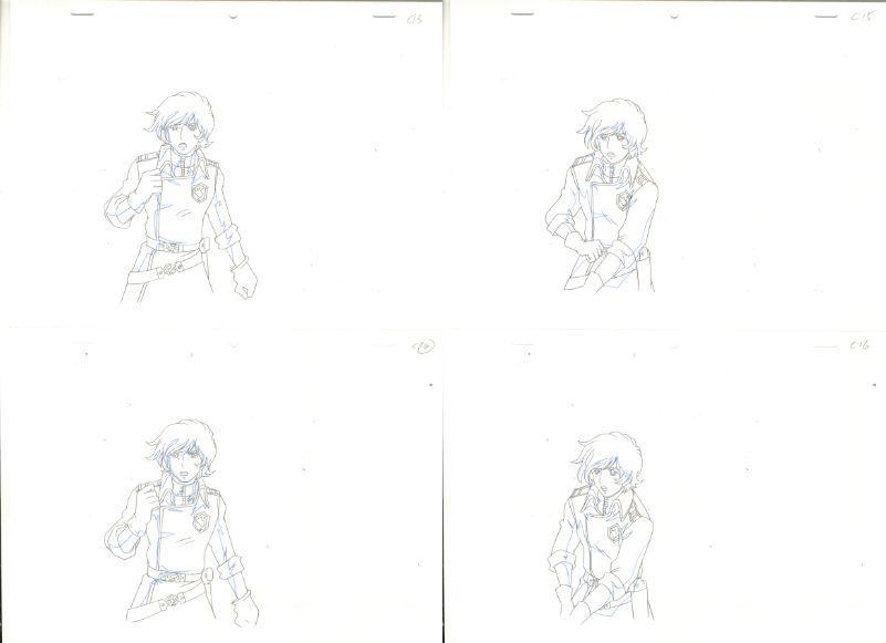 松本零士 銀河鉄道物語 動画セット 4 <検索ワード> セル画 原画 イラスト 設定資料 アンティーク_画像4