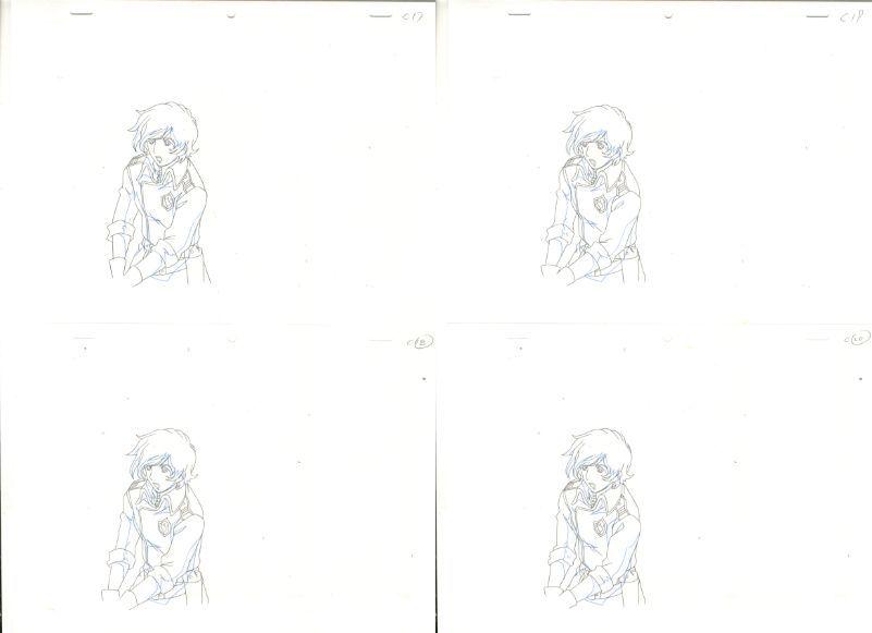 松本零士 銀河鉄道物語 動画セット 4 <検索ワード> セル画 原画 イラスト 設定資料 アンティーク_画像5