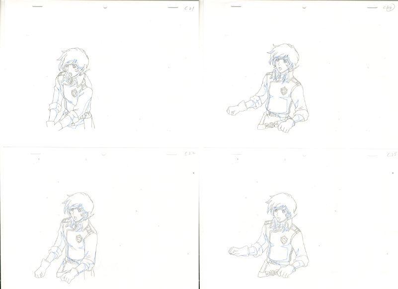 松本零士 銀河鉄道物語 動画セット 4 <検索ワード> セル画 原画 イラスト 設定資料 アンティーク_画像6