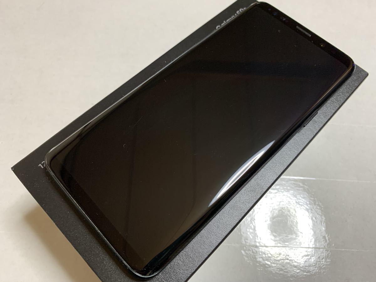 送料無料 海外版SIMフリー SAMSUNG GALAXY S9+ 英国版 SM-G965F 128GB 6GB ミッドナイトブラック 黒 美品 中古 plus docomo softbank_画像4