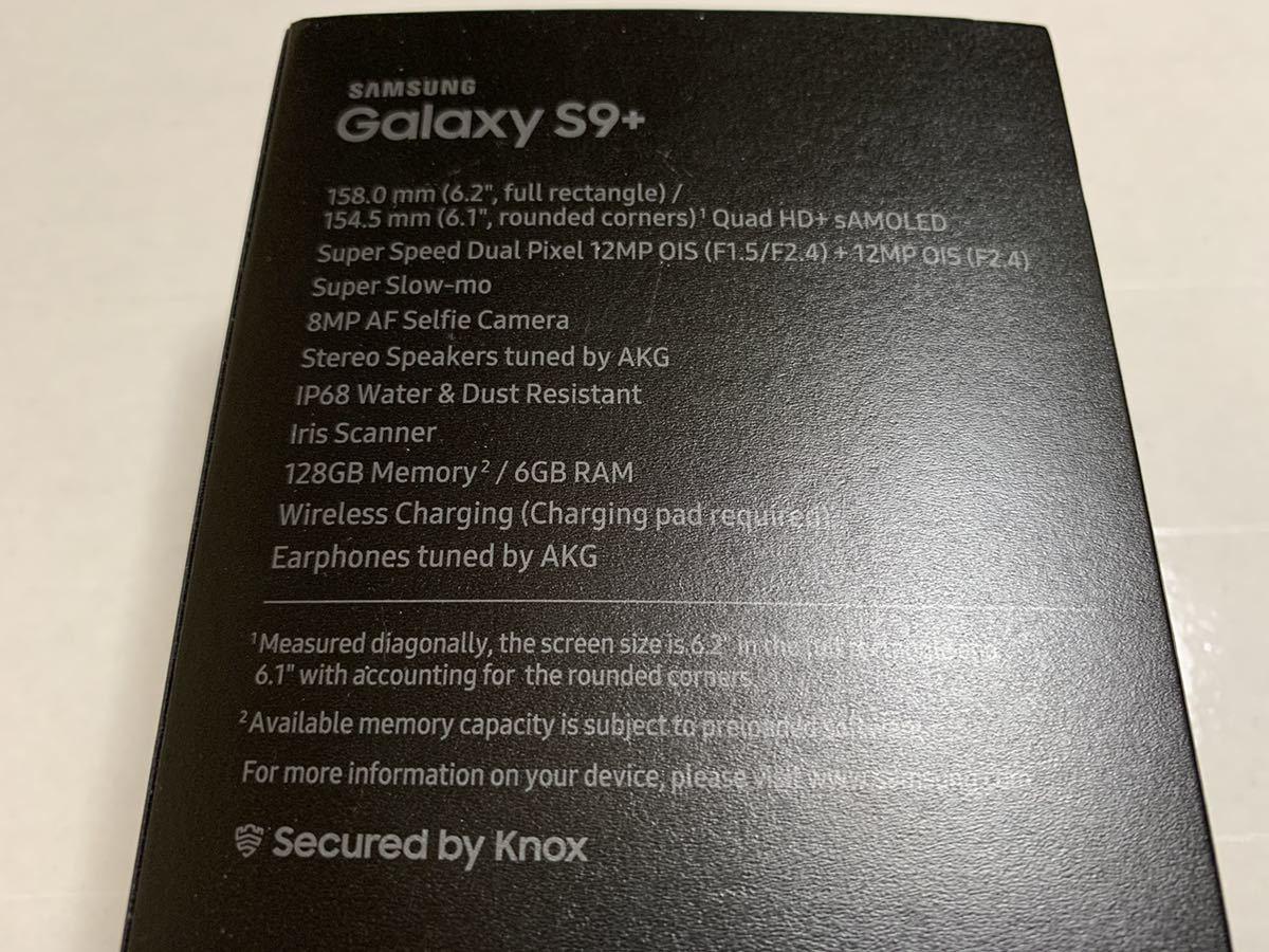 送料無料 海外版SIMフリー SAMSUNG GALAXY S9+ 英国版 SM-G965F 128GB 6GB ミッドナイトブラック 黒 美品 中古 plus docomo softbank_画像9