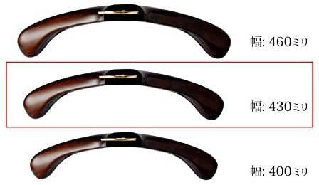 ナカタハンガー 日本製 レギュラー 木製メンズ スーツハンガー フェルトバー付 マーズブラウン AUT-05(w:430)_画像6
