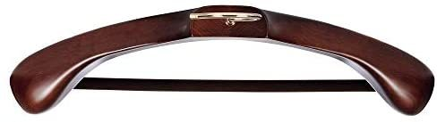 ナカタハンガー 日本製 レギュラー 木製メンズ スーツハンガー フェルトバー付 マーズブラウン AUT-05(w:430)_画像3