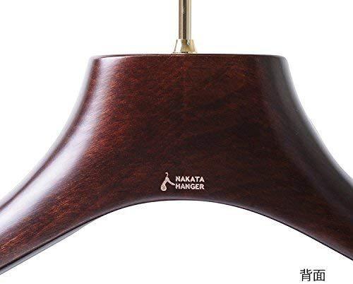 ナカタハンガー 日本製 レギュラー 木製メンズ スーツハンガー フェルトバー付 マーズブラウン AUT-05(w:430)_画像7