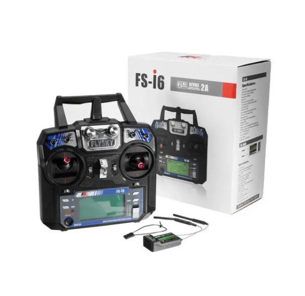 FlySky FS-i6 2.4G FS-iA6B レシーバ付き 6CH AFHDS RCトランスミッタ - モード1(右ハンドスロットル)_画像1